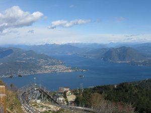 Vista del Lago Maggiore da Alpyland al Mottarone